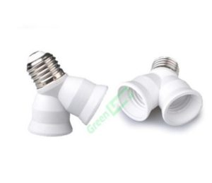 E27 to 2 x E27 light adaptors