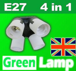 E27 to 4 x E27 light adaptor
