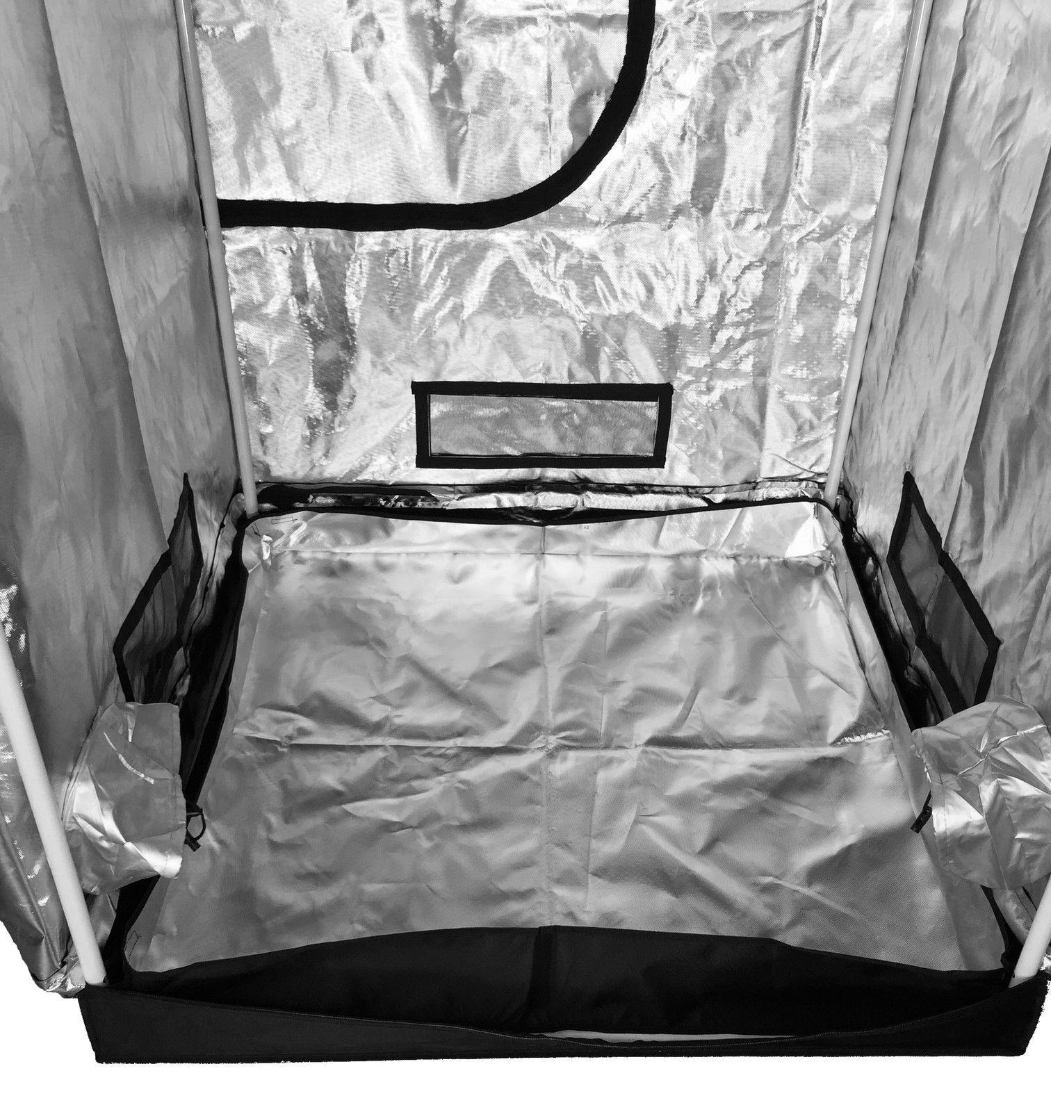 Epic Pro Tall Grow Tent 120 x 120 x 220 cm & Epic Pro Tall Grow Tent 120 x 120 x 220 cm - Green Lamp