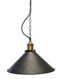 Metal Lamp Shade – Black – 1.2m E27 – GL03